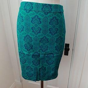 NEW J Crew damask pencil skirt